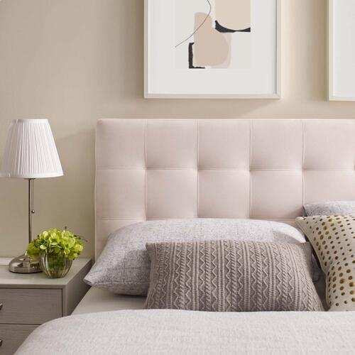 Modway - Lily King Biscuit Tufted Performance Velvet Headboard in Pink