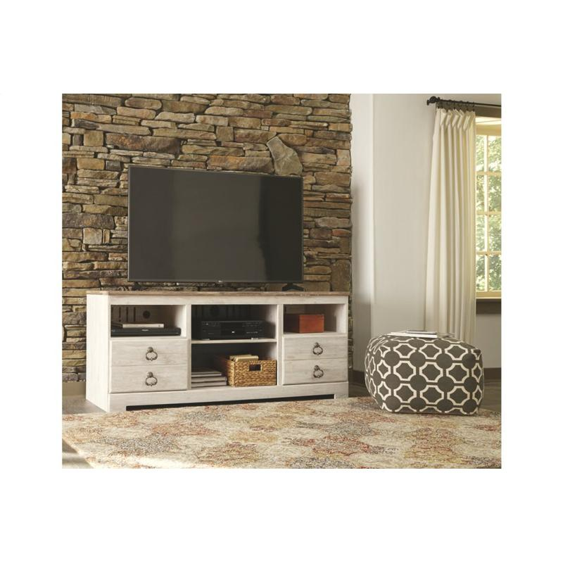 View Product - Willowton Whitewash Large TV Stand