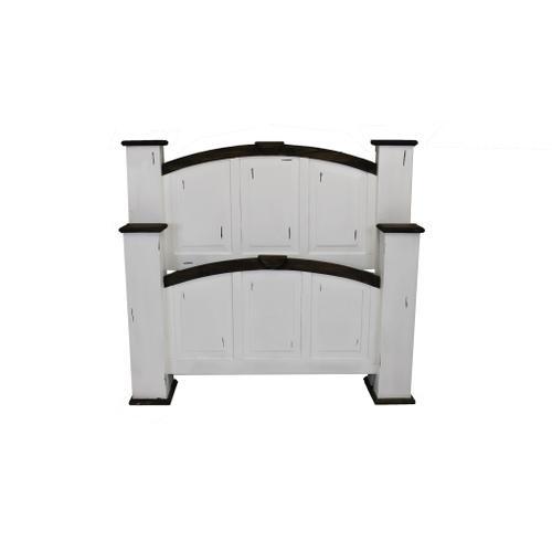White Queen Mansion Bed