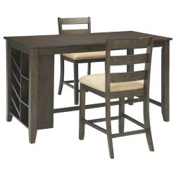 Counter Height Dining Table and 2 Barstools