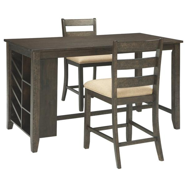 See Details - Counter Height Dining Table and 2 Barstools