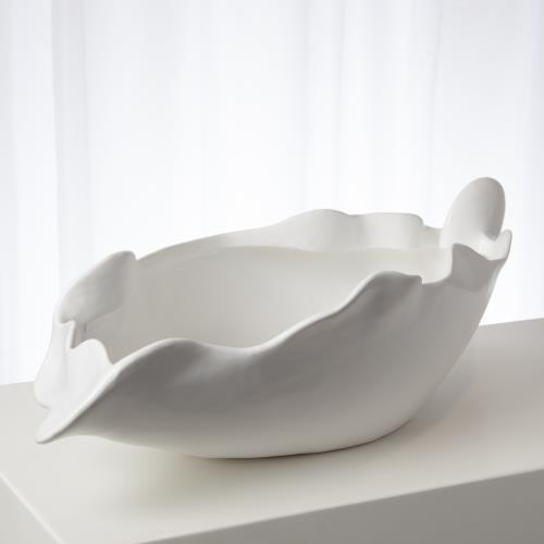 Free Form Bowl-Matte White-Lg