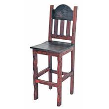 Red Scraped Wood Seat