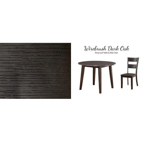 American Wholesale Furniture - 3 Piece Dining - Drop Leaf Table and Two Side Chairs