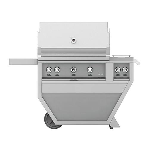 "36"" Hestan Outdoor Deluxe Grill with Double Side Burner - G_BR__CX_ Series - Lush"
