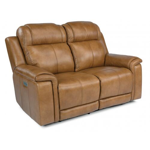 Kingsley Power Reclining Loveseat with Power Headrests & Lumbar