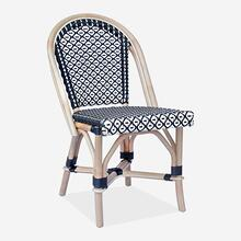 Camelot Outdoor Chair - Black/White - MOQ 2 (17X24X35) (package: 2pcs/box) price is per piece