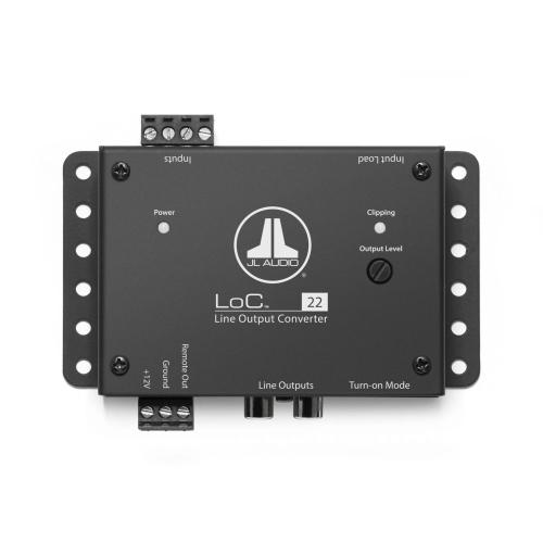 JL Audio - Fully Active, Two-Channel Speaker Level to Line Output Converter with Auto Turn-On