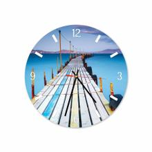 Bridge Bali Beach Round Acrylic Wall Clock
