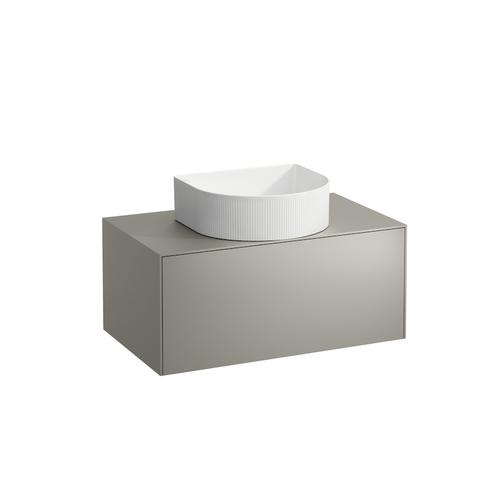 White Matte Drawer element, 1 drawer, matching bowl washbasins 812340, 812341, 812342, 812343, centre cut-out
