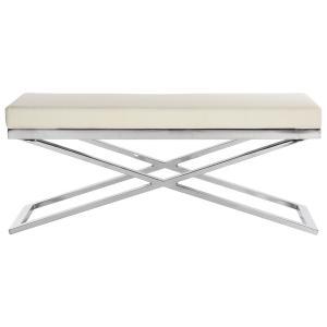 Acra Bench - White / Silver