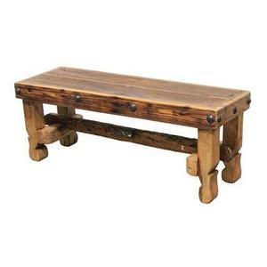 """L.M.T. Rustic and Western Imports - 72"""" Old Wood Bench Seat"""