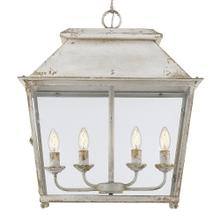 Abingdon 4 Light Pendant,Antique Ivory