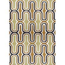 "Durable Hand Tufted Transition TF36 Area Rug by Rug Factory Plus - 7'6"" x 10'3"" / Two-tone Yellow"