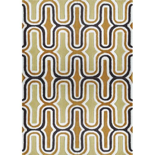 """Durable Hand Tufted Transition TF36 Area Rug by Rug Factory Plus - 7'6"""" x 10'3"""" / Two-tone Yellow"""