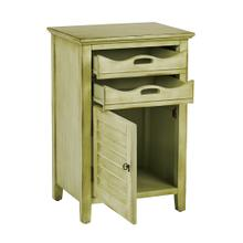 Charlotte Chair Side Table In Antique Celadon Finish, Fully Assembled
