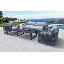 Renava Whimsey - Modern Outdoor Light Grey & Dark Grey Sofa Set