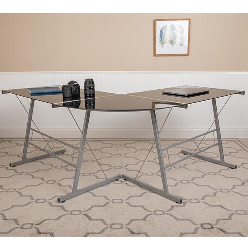 """Flash Furniture - L-Shaped Desk 83.5"""" Computer Corner Desk, Gaming Corner Desk, Home Office Corner Desk, Gaming Desk, Easy to Assemble, Black"""
