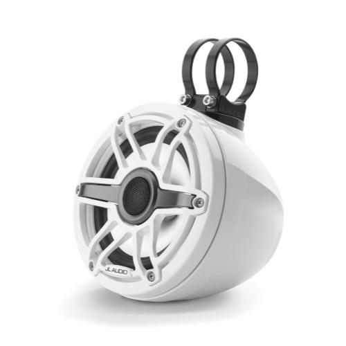 JL Audio - 6.5-inch (165 mm) Enclosed Coaxial System with Transflective™ LED Lighting, Gloss White Enclosure, Gloss White Trim Ring, Gloss White Sport Grille