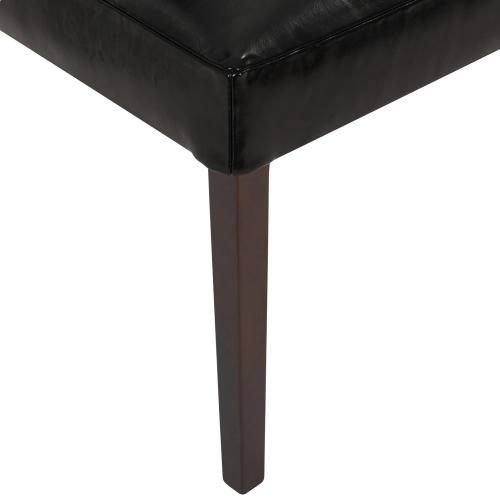 Hartford Leather Dining Side Chair, Black
