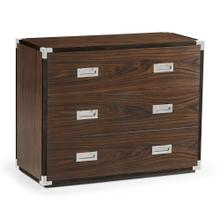 Campaign Style Dark Santos Rosewood Chest of Three Drawers