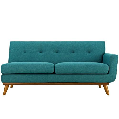 Modway - Engage Right-Arm Upholstered Fabric Loveseat in Teal