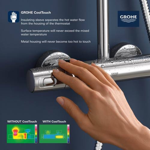 Grohe - Euphoria 260 Cooltouch Thermostatic Shower System, 1.75GPM