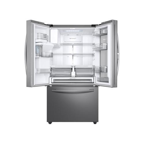 Product Image - 23 cu. ft. Counter Depth 3-Door French Door Food Showcase Refrigerator in Stainless Steel