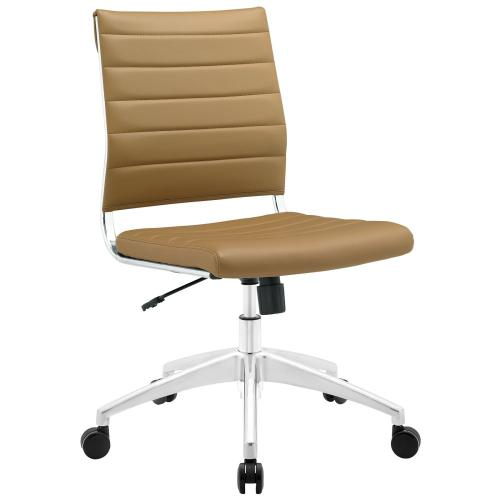Jive Armless Mid Back Office Chair in Tan