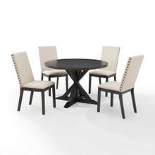 See Details - Hayden 5pc Round Dining Set