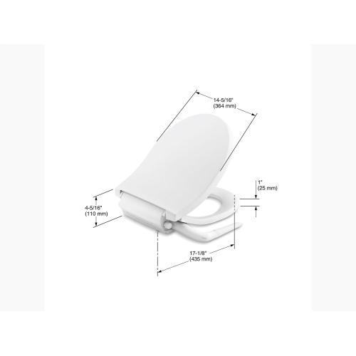 K769230 In White By Kohler In Atlanta Ga White Round Front Manual Bidet Toilet Seat