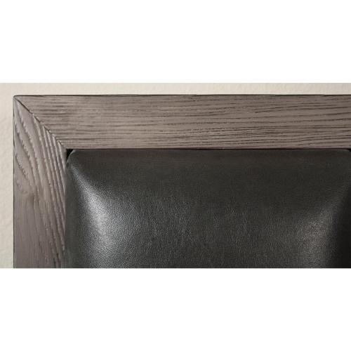 Precision - King/california King Low Upholstered Headboard - Gray Wash Finish