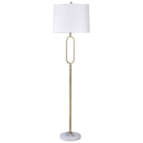 Rosa Gold  Golden Metal Contemporary Design Floor Lamp with Crystal Glass and Solid Marble Base  1