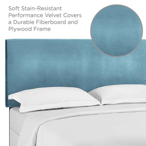 Modway - Taylor Full / Queen Upholstered Performance Velvet Headboard in Sea Blue