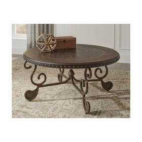 Rafferty Round Cocktail Table Dark Brown