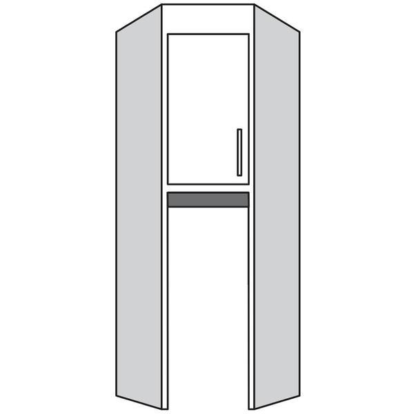 See Details - Corner Top Turn Unit Closed Both Sides