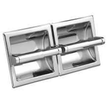 Hotel Motel chrome double paper holder