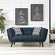 Bestow Upholstered Fabric Loveseat in Blue