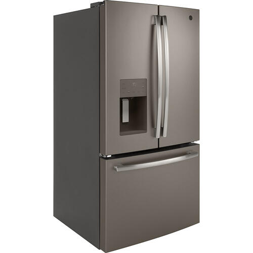 GE 25.5 Cu.Ft, French Door Refrigerator Slate- GFE26JMMES