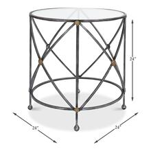 Drum And Fife Lamp Table, Glass Top
