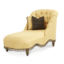 Armless Tufted Chaise - Opt1