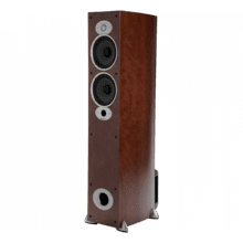 Compact Floor Standing Speaker in Cherry