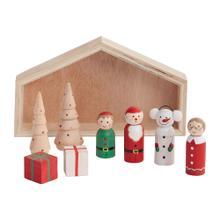 """7.75""""x 1""""x 4.5"""" Santa's Workshop Scene"""