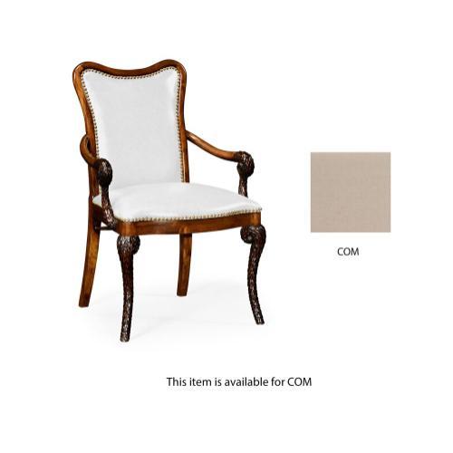 "Fabric upholstered ""pangolin"" armchair"