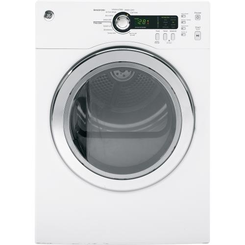 GE 4 cu. ft. Electric Compact Dryer White PCVH480EKWW