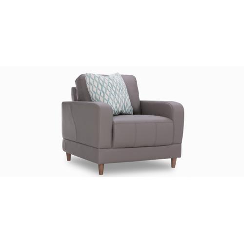 Brasilia Chair (001; Wood legs - Tobacco T2)