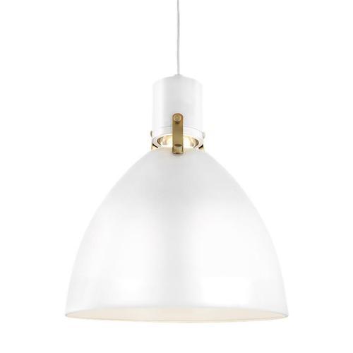 Brynne Small LED Pendant Flat White Bulbs Inc