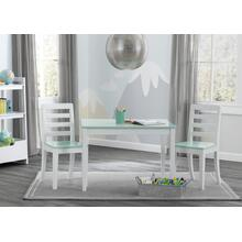 Gateway Table \u0026 2 Chair Set - Bianca with Aqua (134)