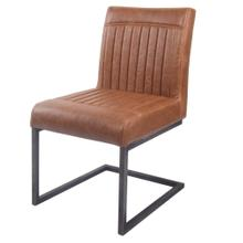 Ronan KD PU Dining Chair, Antique Cigar Brown