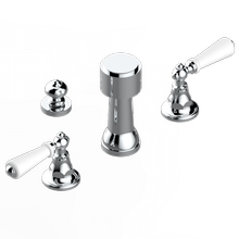 View Product - Deck mounted 3-hole bidet with vertical spray, vacuum breaker and drain
